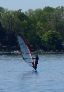 Esther Practicing Windsurfing